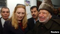Ясир Арафат с женой