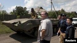 Донецк облысындағы сепаратистер. Украина, 21 шілде 2015 жыл.