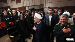 حسن روحانی رئیس جمهور و محمدعلی جعفری فرمانده سپاه
