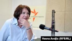 Vesna Rakić Vodinelić u beogradskom studiju RSE
