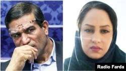 Iranian MP Salman Khodadadi (L), who's been accused of sexual misconduct and one of his alleged victim Zahra Navidpour.