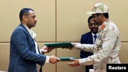 Deputy Head of Sudanese Transitional Military Council, Mohamed Hamdan Dagalo and Sudan's opposition