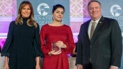 ԱՄՆ պետքարտուղարը և առաջին տիկինը «Խիզախ կին» մրցանակ հանձնեցին Լյուսի Քոչարյանին