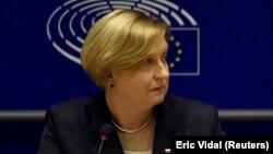 Anna Fotyga în Parlamentul European. 3 mai 2017