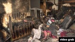 Последствия пожара во времянке в микрорайоне Коктал-1, в результате которого погибли пятеро детей. Астана, 4 февраля 2019 года.