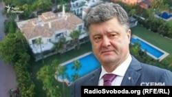 Президент Украины Петр Порошенко на фоне виллы в Испании