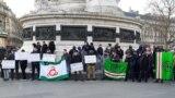 Митинг в поддержку Дохиева и Усманова в Париже