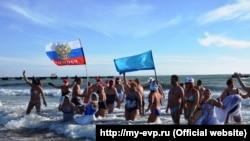 Заплыв «моржей» в Евпатории, 7 января 2018 год
