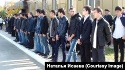 Первые призывники из Чечни