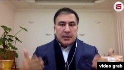 Михаил Саакашвили отвечал на вопросы журналистов по скайпу