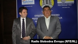 Министерот за транспорт и врски Миле Јанакиески и градоначалникот на Куманово Зоран Дамјановски.