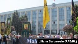 Молдовалық православие өкілдері мұсылман үйымының тіркелуіне қарсылық көрсетіп тұр. Кишинев, 18 мамыр 2011 жыл