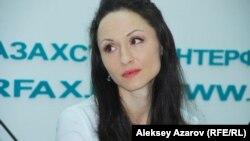 Нидерланд корольдігі ұлттық балетінің прима-балеринасы Анна Цыганкова. Алматы, 17 наурыз 2015 жыл.