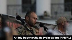 """Дмитрий Ярош """"оңчулдардын"""" жыйынында. Киев. 21-июль, 2015-жыл."""