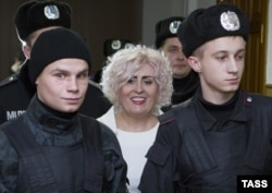 Неля Штепа в харьковском суде, декабрь 2014