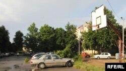 Košarkaški teren na kome je prije nekoliko dana napadnut sin lidera PZP Nebojše Medojevića, foto: Savo Prelević
