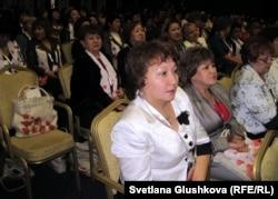 Делегаты Третьего Евразийского саммита женщин (EWS-3). Астана, 21 ноября 2012 года.