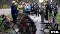 Ушанаваньне памяці ахвяраў у Трасьцянцы