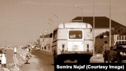 Sovetdən qalma avtobus, foto Samira Najaf