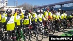 مسابقات بایسکلرانی با پیام صلح، در کابل