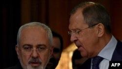 Javad Zarif dhe Sergei Lavrov (djathtas)