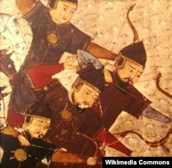 Монгольские воины на рисунке XIII века