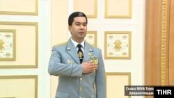 "Türkmenistanyň milli howpsuzlyk ministri Döwrangeldi Baýramow, ""Türkmenistanyň Hronikasy"" websaýtynyň fotosuraty"