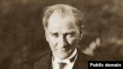Mustafa Kemal Ataturk, the founder of the Turkish Republic. Insulting Ataturk - or the idea of 'Turkishness' - is a crime in Turkey.