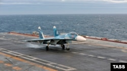 Russia's Admiral Kuznetsov took part in combat for the first time in the navy's history.