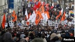 Марш в поддержку политзаключенных в ферале 2014 года в Москве
