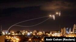 Իսրայել - «Երկաթ գմբեթ» համակարգը չեզոքացնում է Աշքելոն քաղաքի վրա Գազայի հատվածից արձակված հրթիռները, արխիվ