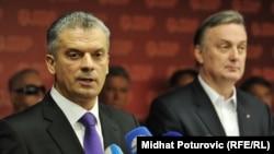 Fahrudin Radončić i Zlatko Lagumdžija, 1. jun 2012.