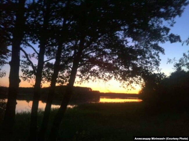 У Берштах, над возерам