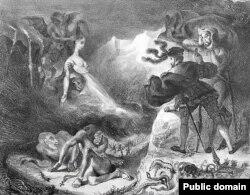 Faust şi Mefistofel (litografie de Delacroix, 1828)