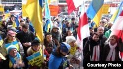 Демонстрация в поддержку Украины в Торонто, март 2014 года. Иллюстративное фото.