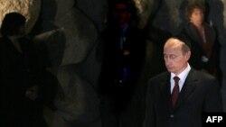 Владимир Путин во время визита в Израиль в 2005 году