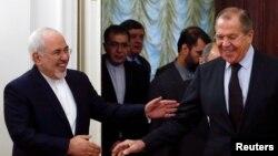 Сергей Лавров с главой МИД Ирана Джавадом Зарифом в Москве, 28 октября