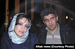 محمود سیف در کنار همسر سابقش شهرزاد میرقلیخان