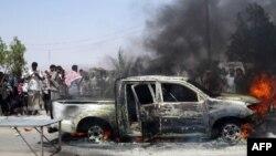 Взрыв автомобиля в городе атак на юге Йемена, 25 сентября