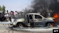 Pamje nga një sulmi mëparshëm kundër një personelit ushtarak në Jemen
