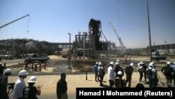 تأسیسات آسیبدرده نفتی عربستان در خریص