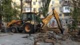 UKRAINE - Reconstruction of the park on Zakharov Square. Crimea, Sevastopol, 22Oct2018