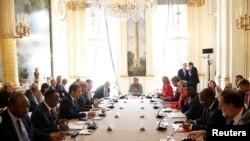امانوئل مکرون رئیس جمهوری فرانسه،میزبان نشست سران هفت کشور آفریقایی و اروپایی در پاریس بود