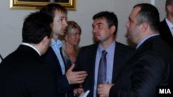 Премиерот Никола Груевски на бизнис форум во Талин, Естонија. Владимир Пешевски, Виктор Мизо.