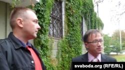 Дзяніс Турчаняк (зьлева) і Раман Кісьляк