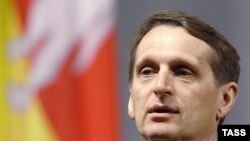 Глава президентской администрации России Сергей Нарышкин