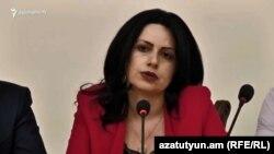Депутат фракции «Мой шаг» Анна Карпетян, Ереван, 26 июня 2019 г.