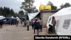 Migranti u kampu Vučjak nadomak Bihaća ,10. oktobar 2019.