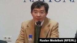 Қоғамдық белсенді Ғалым Ағелеуов. Алматы, 6 қазан 2014 жыл