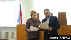 Адвокаты Нина Любишкина и Руслан Нагиев на заседании суда 10 марта 2017 года